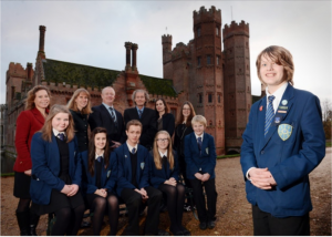A celebration at Oxburgh Hall to mark the end of a five year plan to help Norfolk schools reduce their carbon footprint