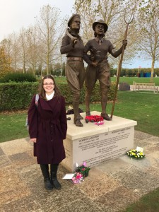 Cherish at the unveiling of the Women's Land Army and Timber Corps Memorial.