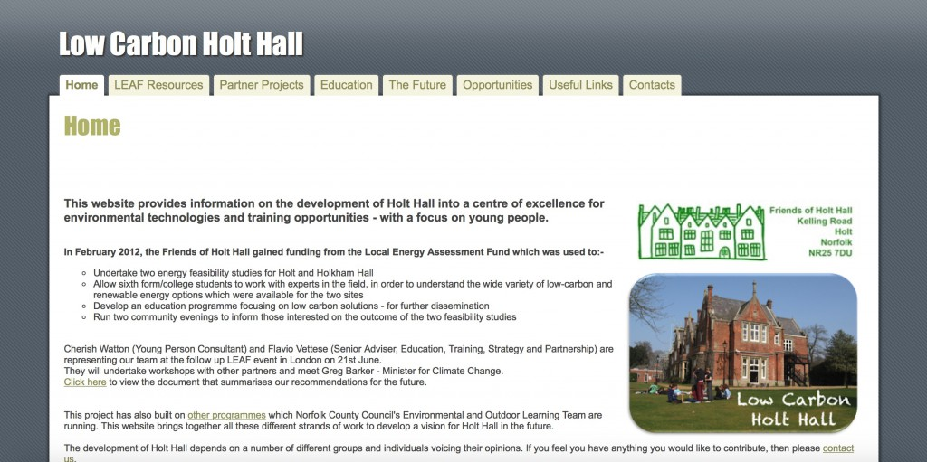 Low Carbon Holt Hall