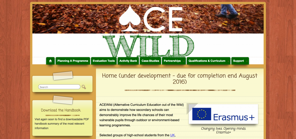 ACEWild (Alternative Curriculum Education out of the Wild) aims to demonstrate how secondary schools can demonstrably improve the life chances of their most vulnerable pupils through outdoor or environment-based learning programmes.